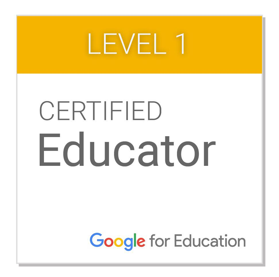 Level 1 certified educator